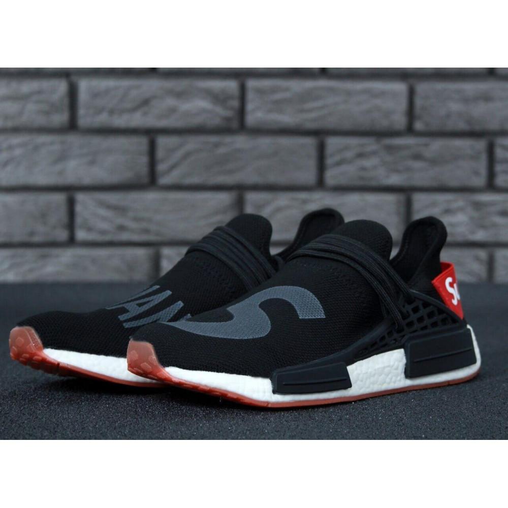 Беговые кроссовки мужские  - Кроссовки Adidas NMD Human Race Supreme Black Grey 2