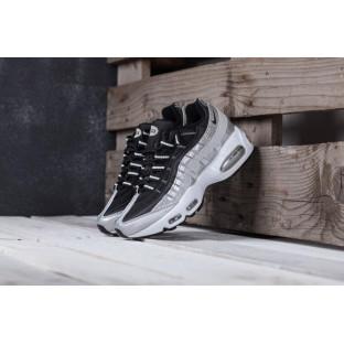 Женские кроссовки Nike Air Max 95 черно-серебристые