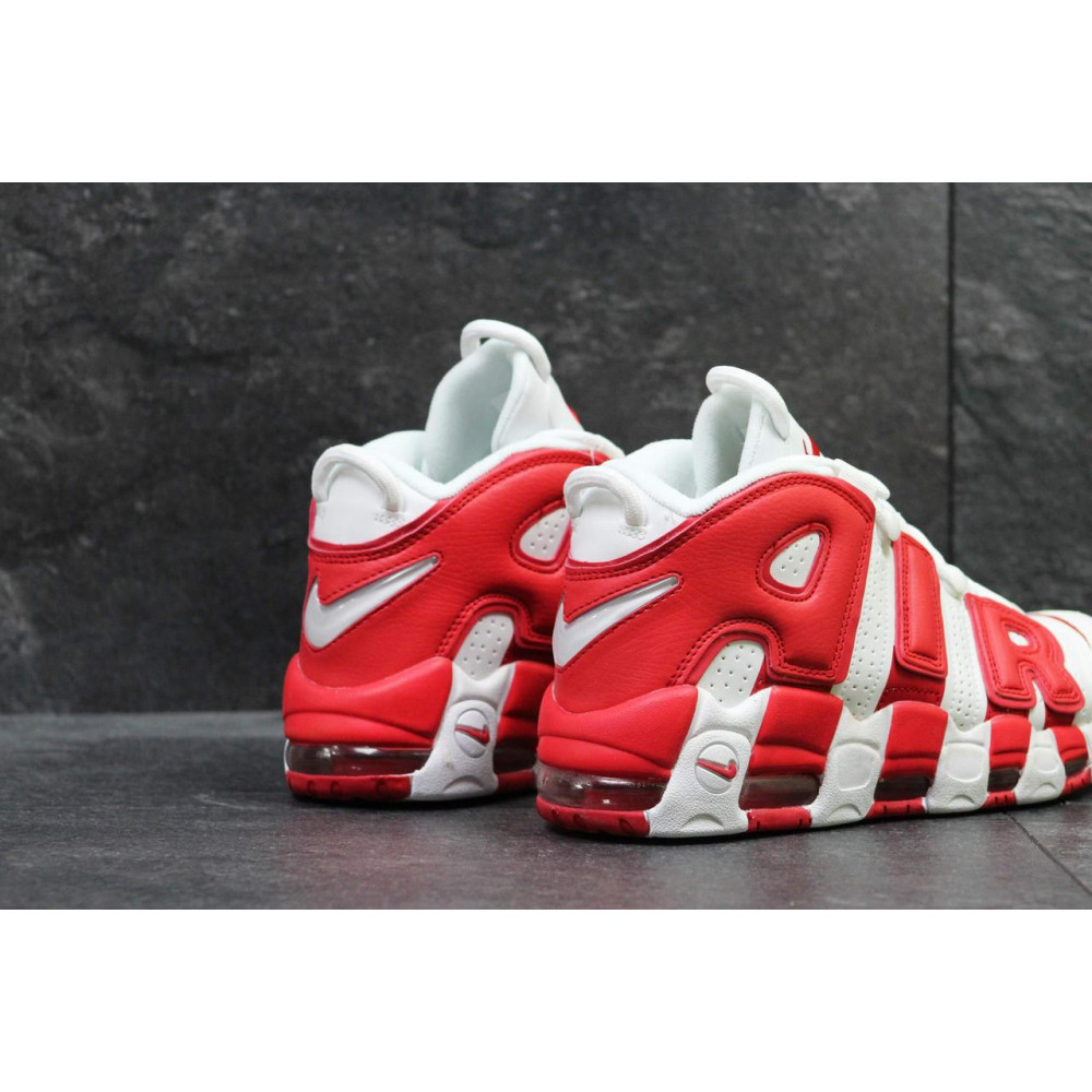 Демисезонные кроссовки мужские   - Мужские высокие кроссовки Air More Uptempo Red White 1