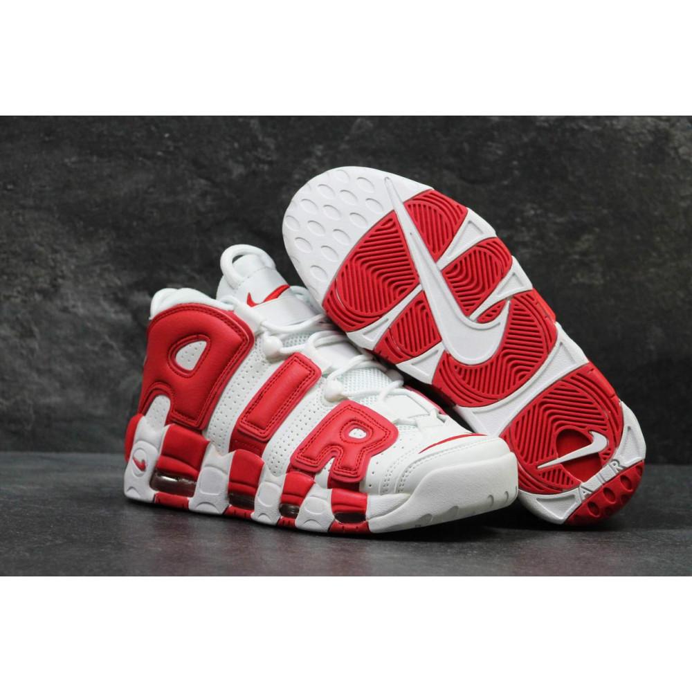 Демисезонные кроссовки мужские   - Мужские высокие кроссовки Air More Uptempo Red White