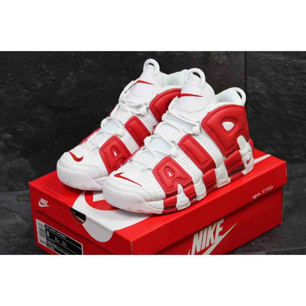 Демисезонные кроссовки мужские   - Мужские высокие кроссовки Air More Uptempo Red White 2