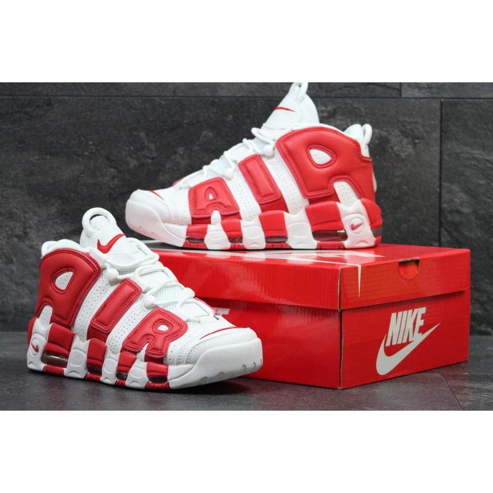 Демисезонные кроссовки мужские   - Мужские высокие кроссовки Air More Uptempo Red White 3