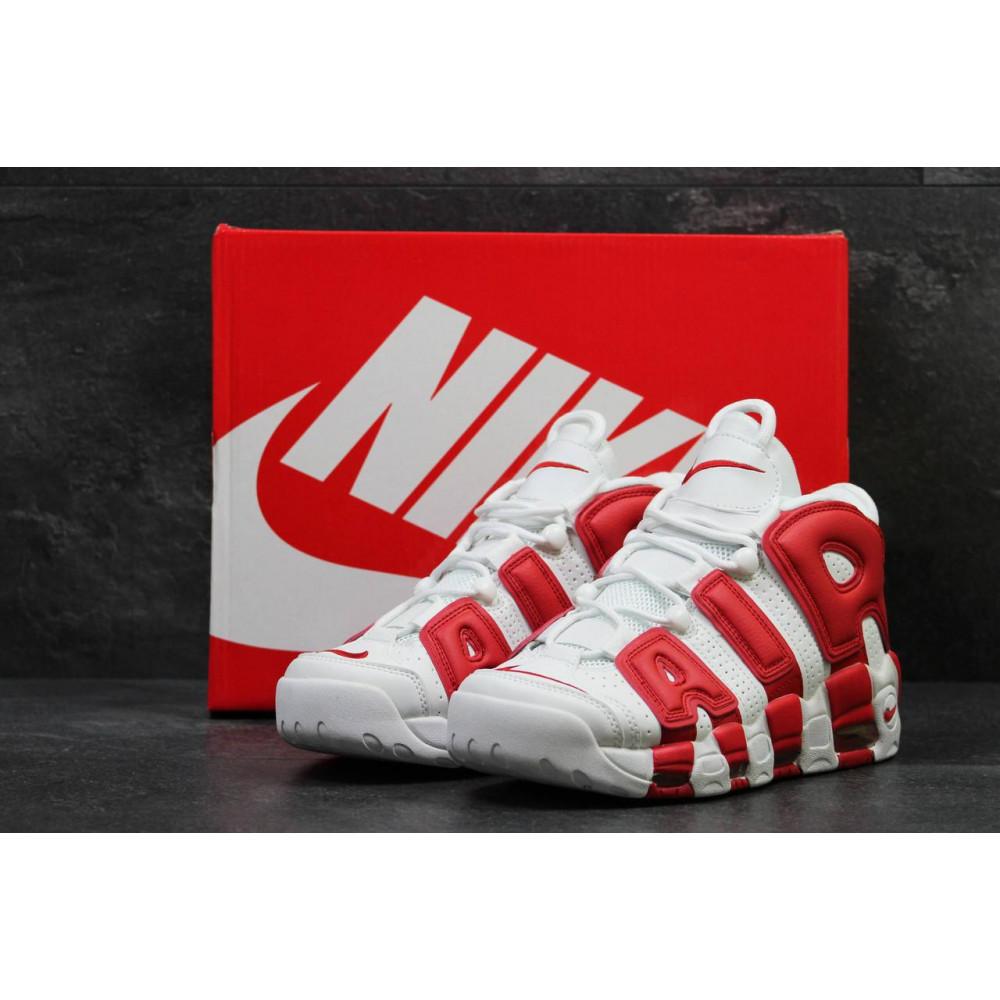Демисезонные кроссовки мужские   - Мужские высокие кроссовки Air More Uptempo Red White 4