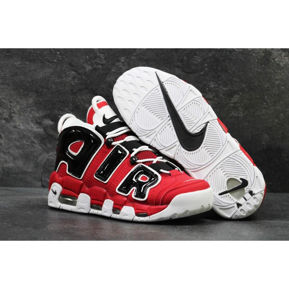 Демисезонные кроссовки мужские   - Мужские кроссовки Air More Uptempo 96 в черно-красном цвете