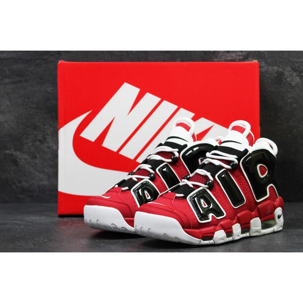 Демисезонные кроссовки мужские   - Мужские кроссовки Air More Uptempo 96 в черно-красном цвете 3