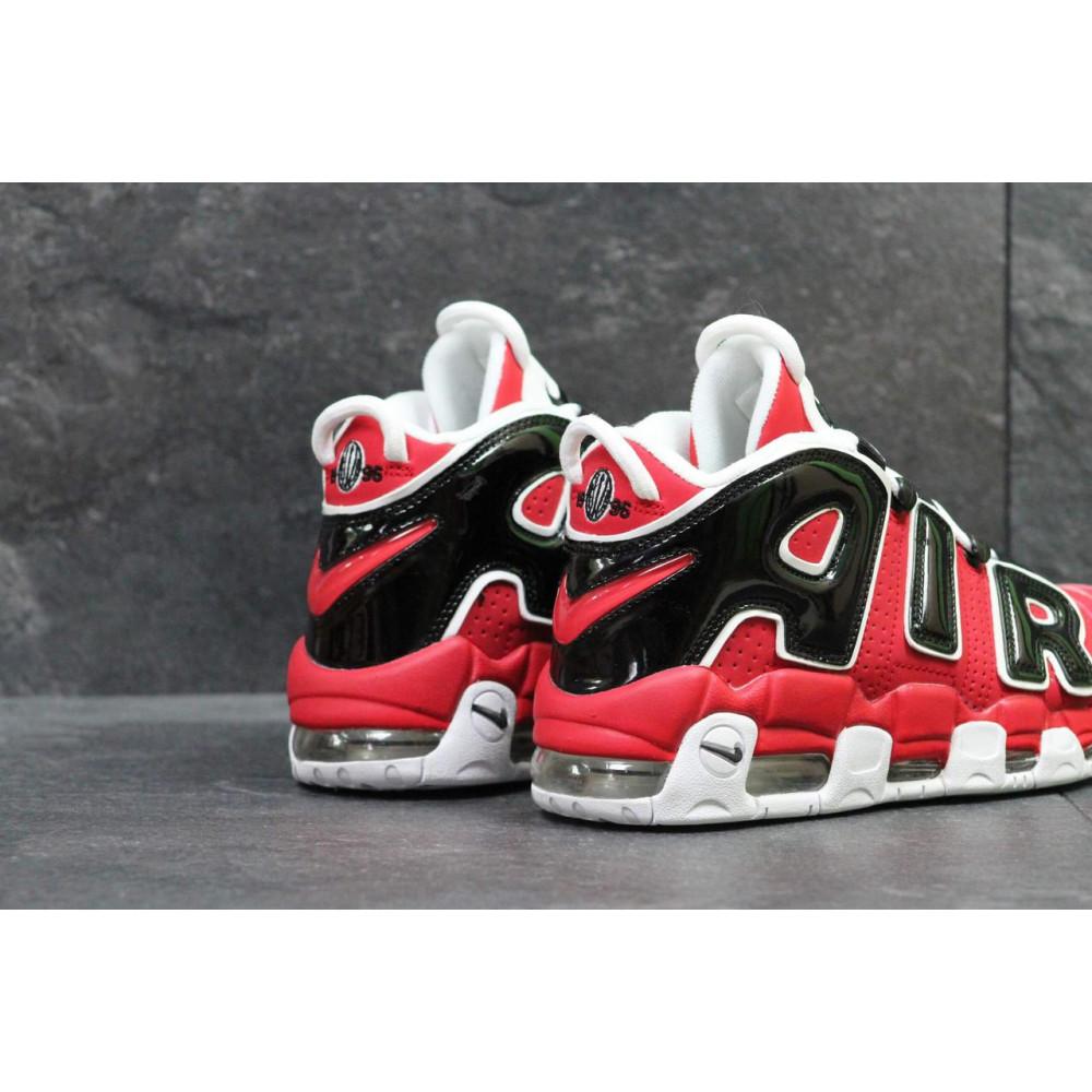 Демисезонные кроссовки мужские   - Мужские кроссовки Air More Uptempo 96 в черно-красном цвете 4