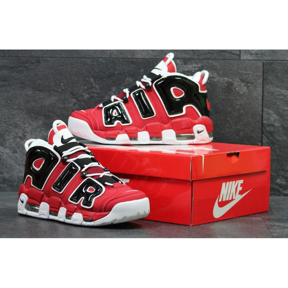 Демисезонные кроссовки мужские   - Мужские кроссовки Air More Uptempo 96 в черно-красном цвете 1