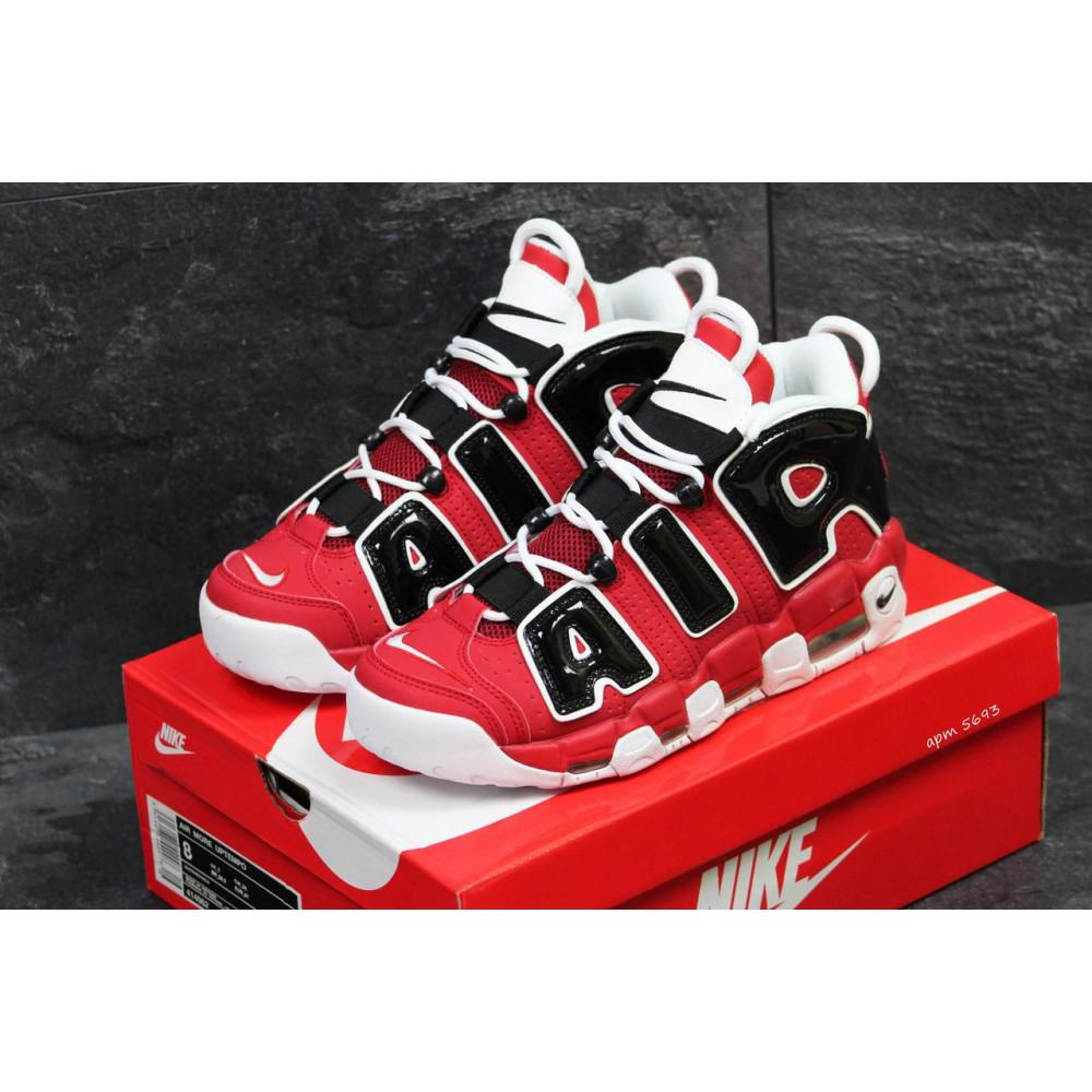 Демисезонные кроссовки мужские   - Мужские кроссовки Air More Uptempo 96 в черно-красном цвете 2