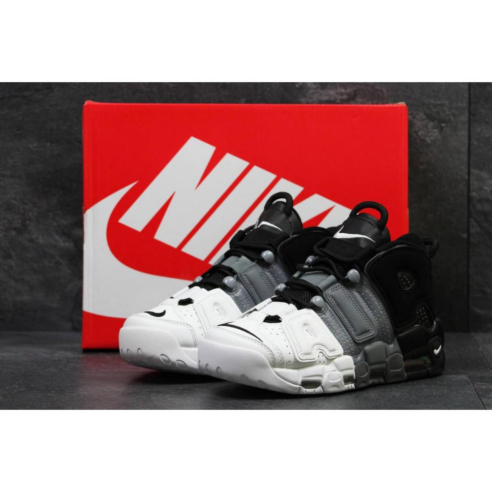 Демисезонные кроссовки мужские   - Мужские кроссовки Air More Uptempo Grey Black White 1