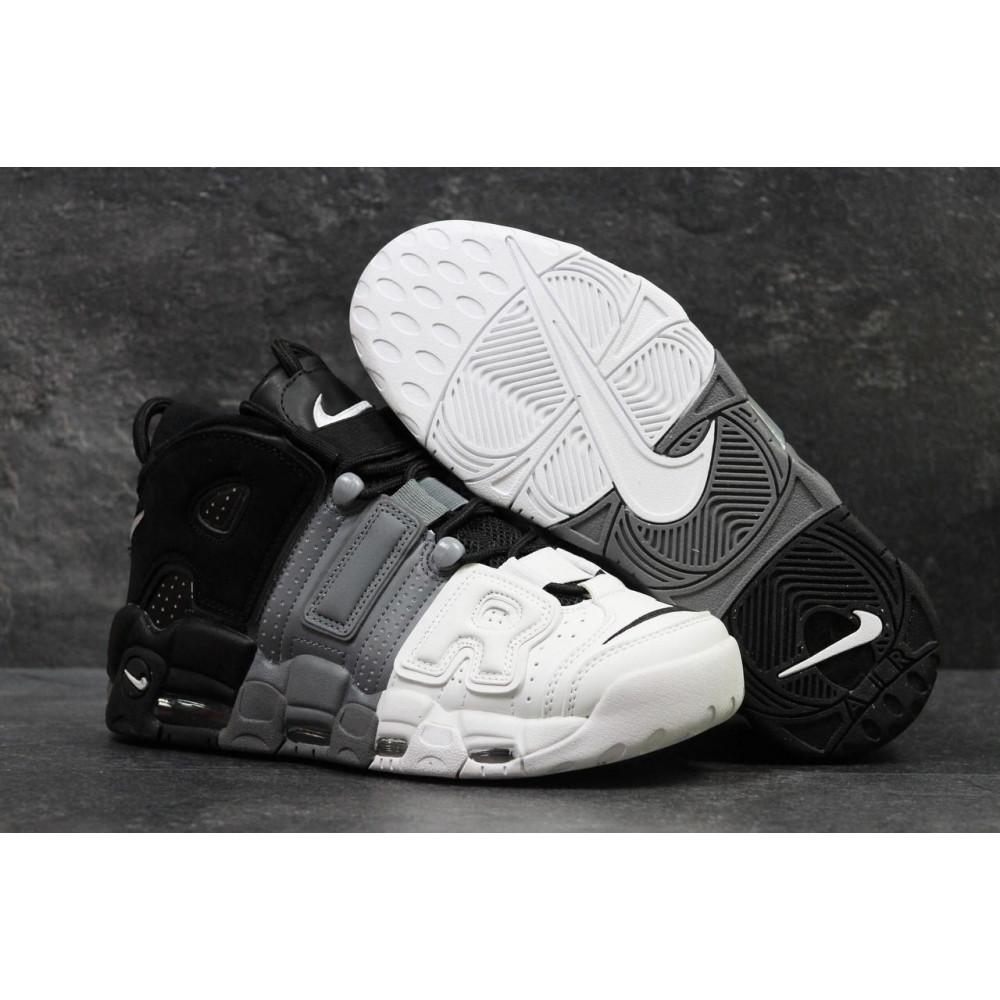 Демисезонные кроссовки мужские   - Мужские кроссовки Air More Uptempo Grey Black White