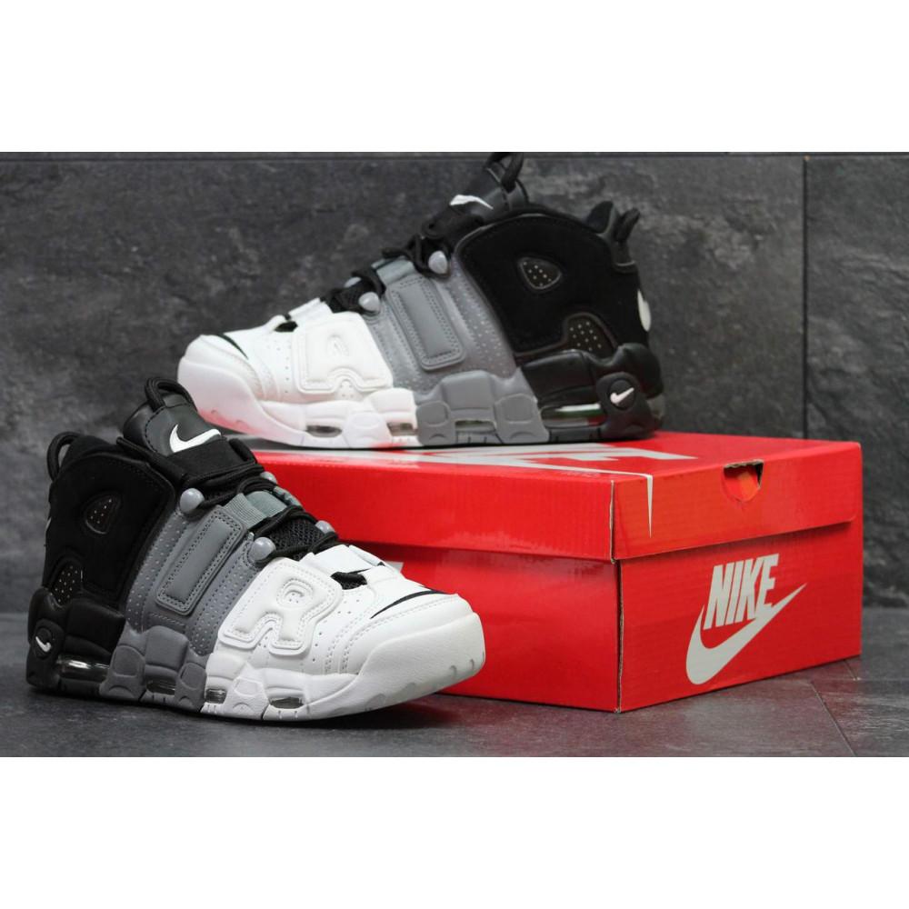 Демисезонные кроссовки мужские   - Мужские кроссовки Air More Uptempo Grey Black White 2
