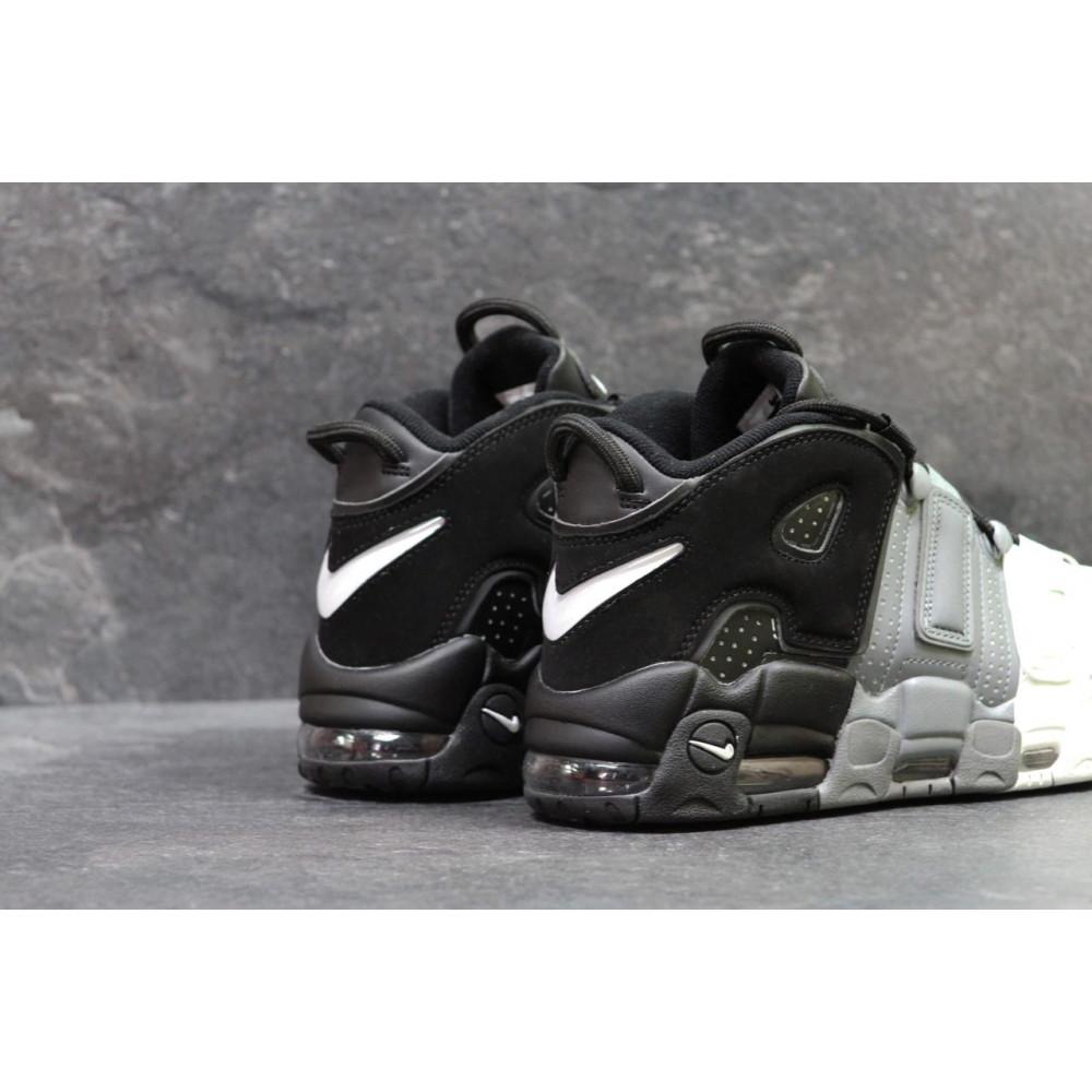 Демисезонные кроссовки мужские   - Мужские кроссовки Air More Uptempo Grey Black White 4