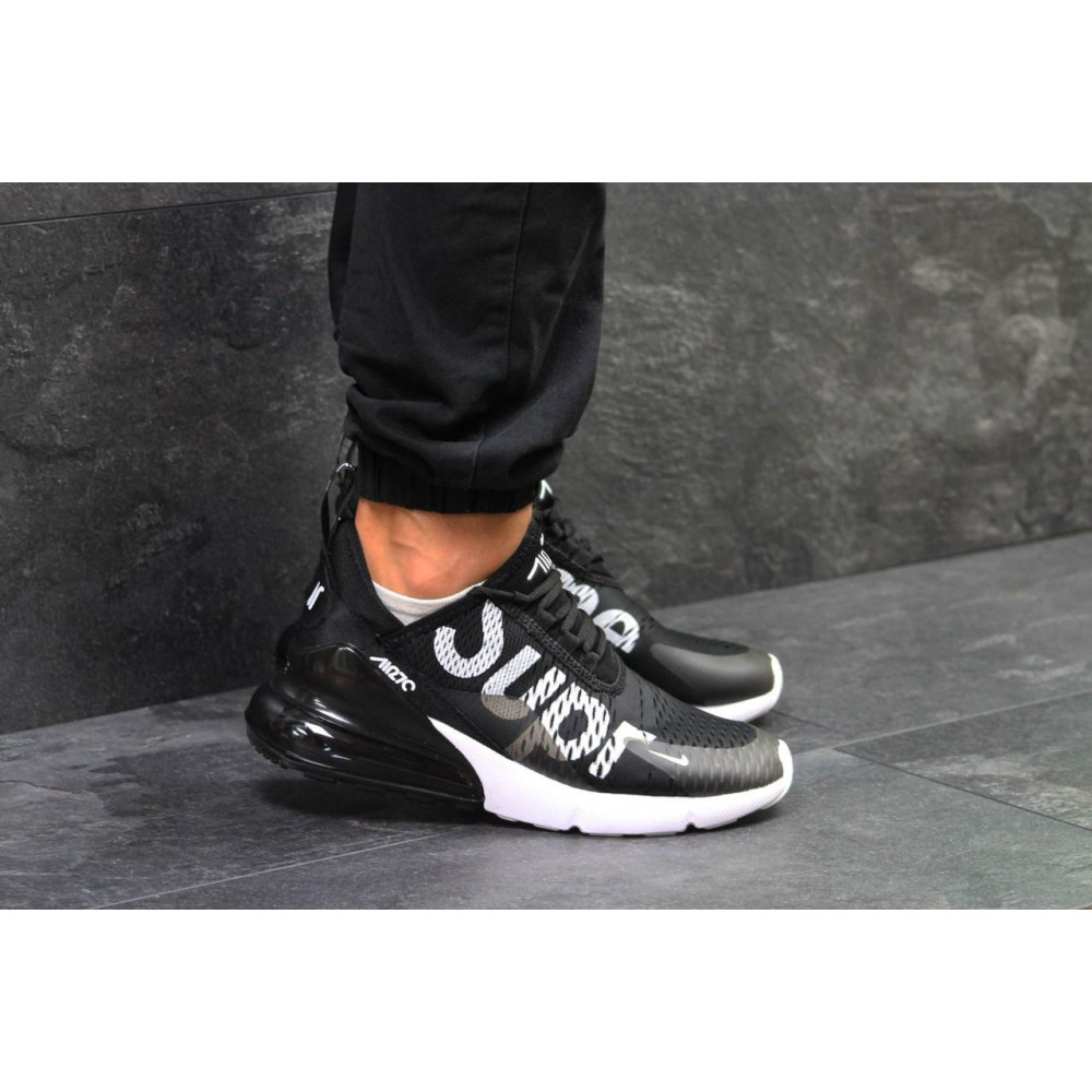 Демисезонные кроссовки мужские   - Кроссовки Nike Air Max 270 Supreme Black White 4