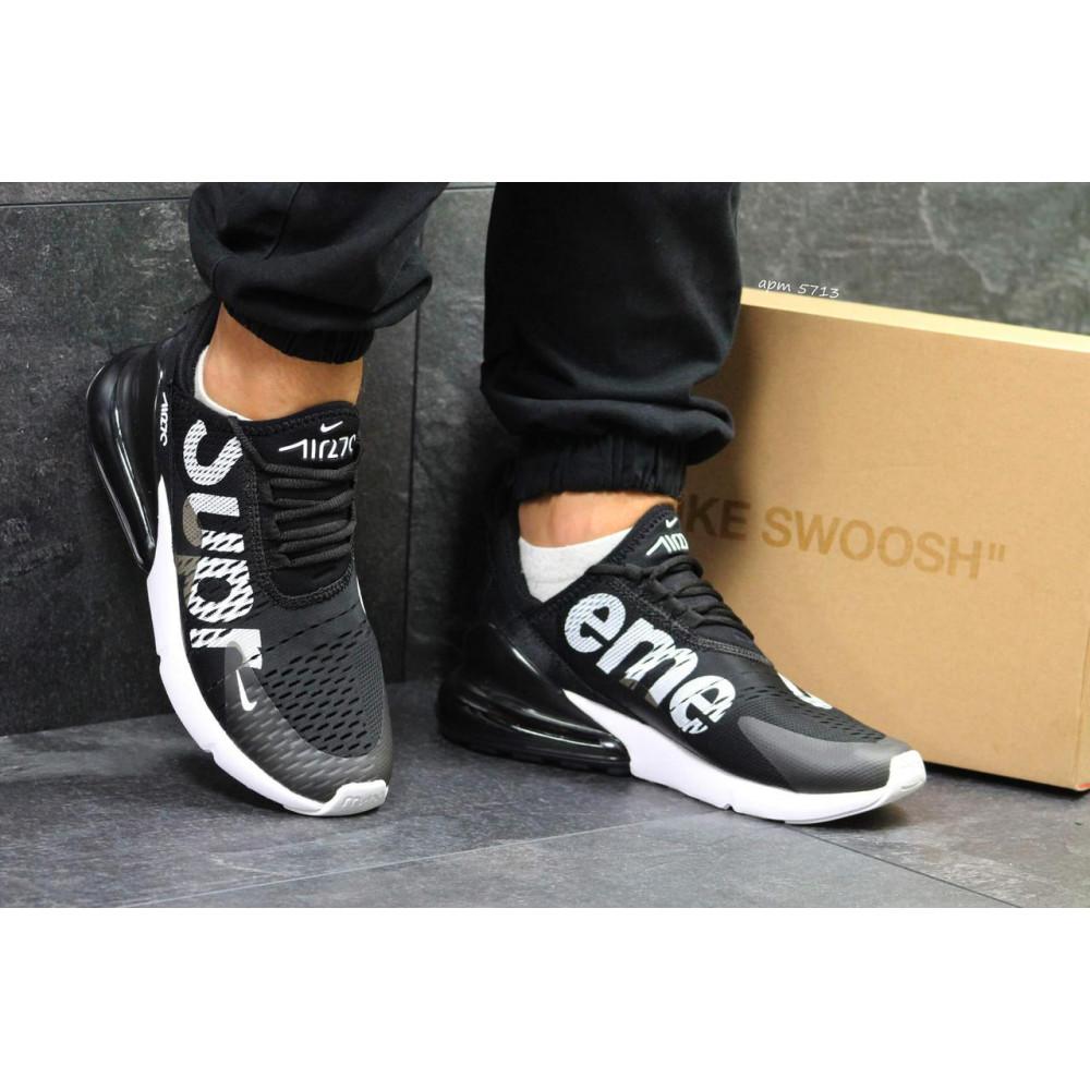 Демисезонные кроссовки мужские   - Кроссовки Nike Air Max 270 Supreme Black White 5