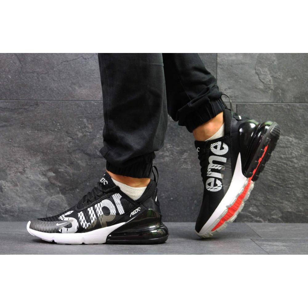 Демисезонные кроссовки мужские   - Кроссовки Nike Air Max 270 Supreme Black White 3