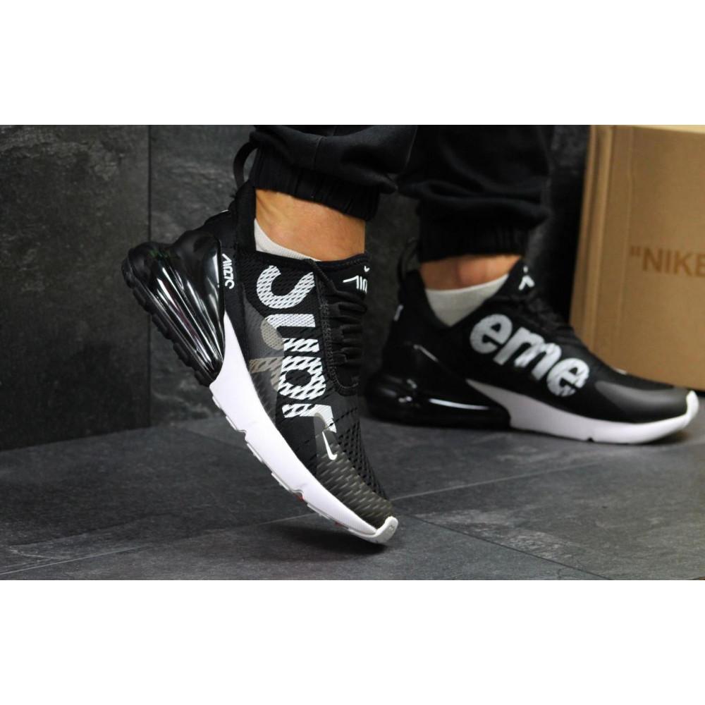 Демисезонные кроссовки мужские   - Кроссовки Nike Air Max 270 Supreme Black White 1