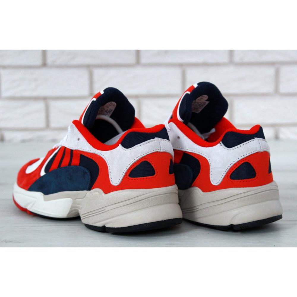 Классические кроссовки мужские - Кроссовки Adidas Yeezy Yung-1 White Red Suede 1