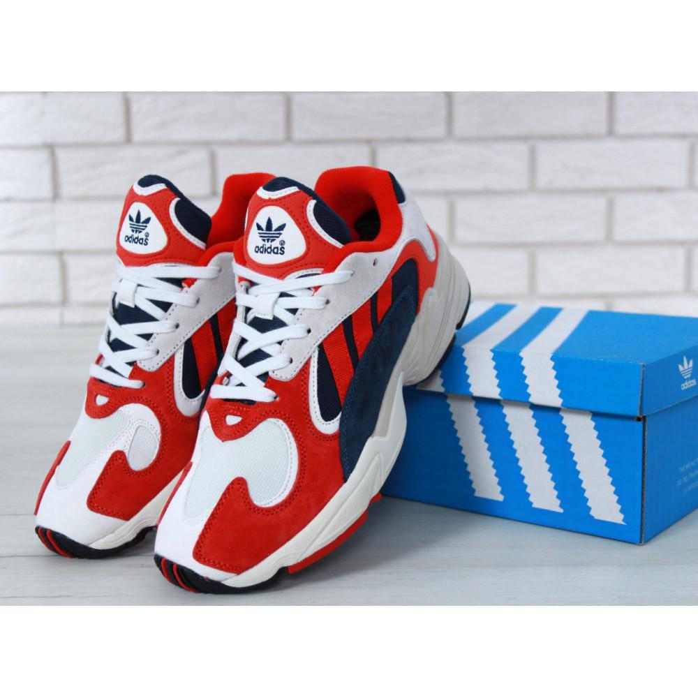 Классические кроссовки мужские - Кроссовки Adidas Yeezy Yung-1 White Red Suede 5