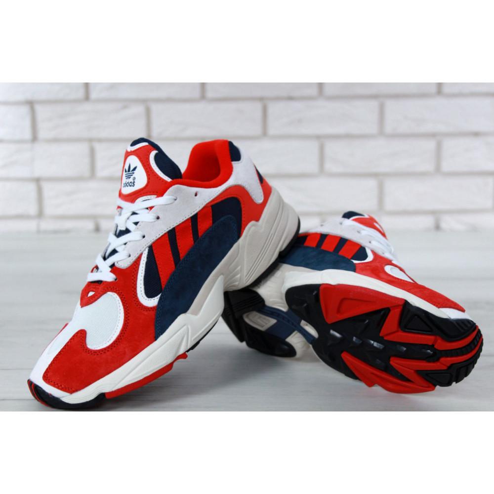 Классические кроссовки мужские - Кроссовки Adidas Yeezy Yung-1 White Red Suede 4