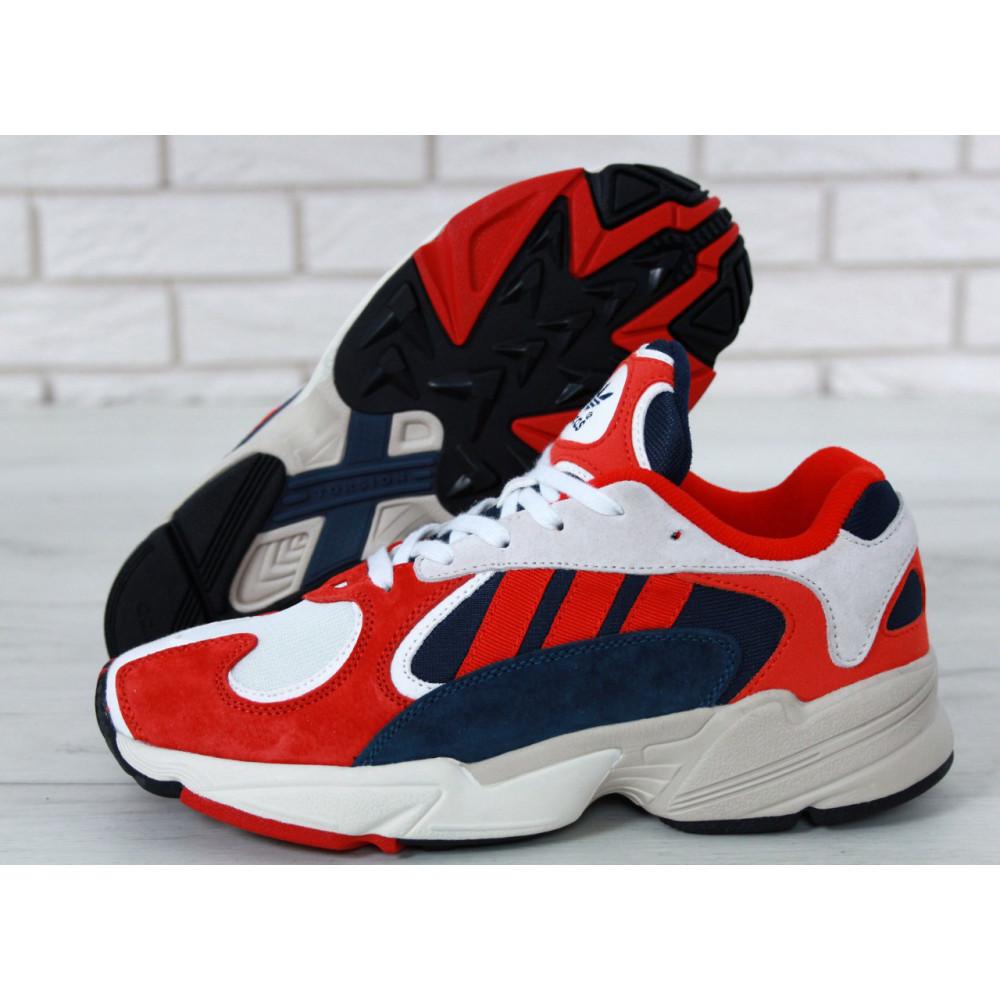 Классические кроссовки мужские - Кроссовки Adidas Yeezy Yung-1 White Red Suede 3