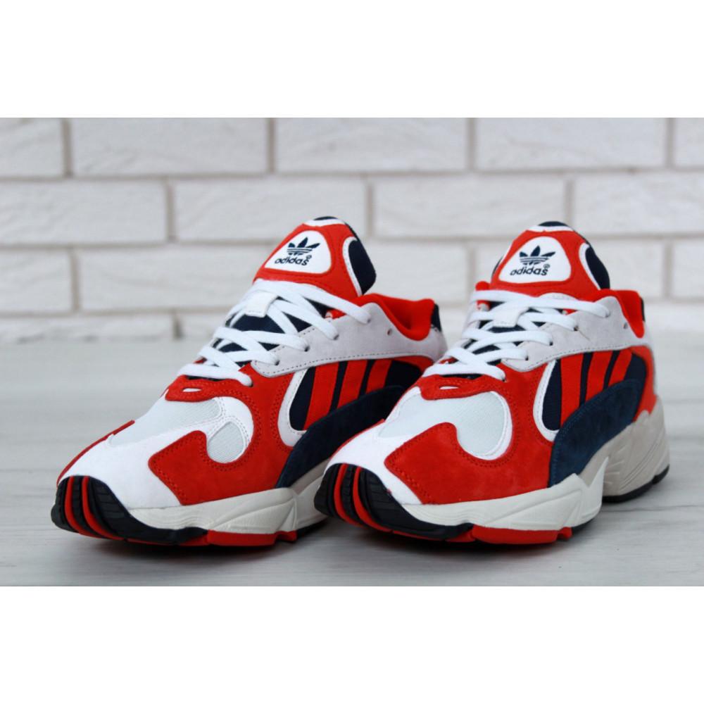 Классические кроссовки мужские - Кроссовки Adidas Yeezy Yung-1 White Red Suede 2