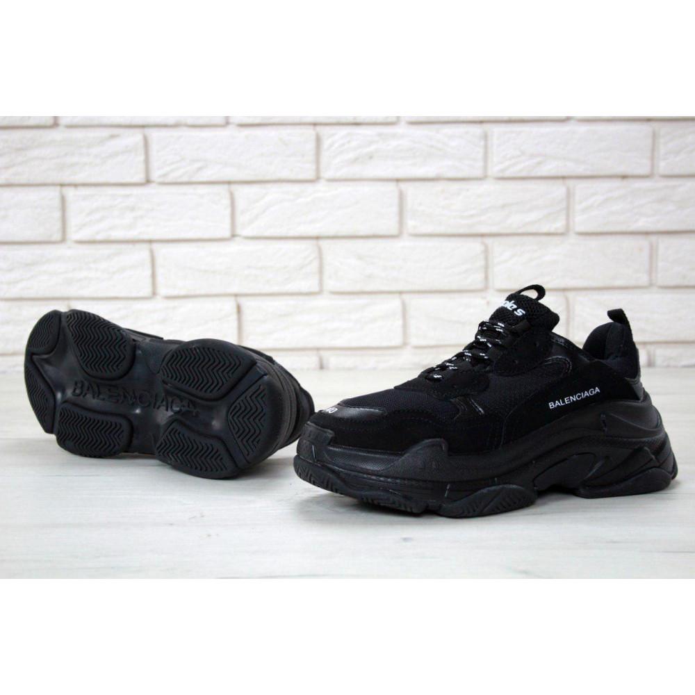Демисезонные кроссовки мужские   - Мужские кроссовки Balenciaga Triple S Triple Black 1