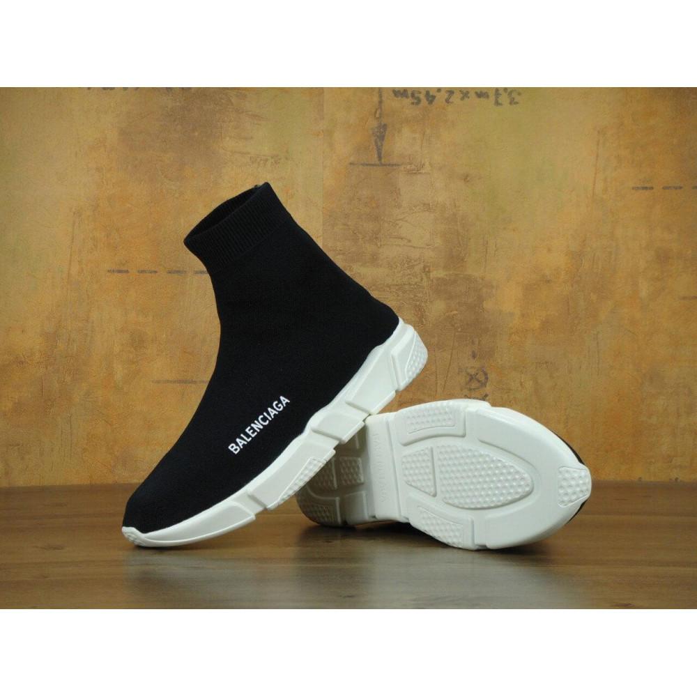 Летние кроссовки мужские - Кроссовки Balenciaga Speed Trainer Black White 2