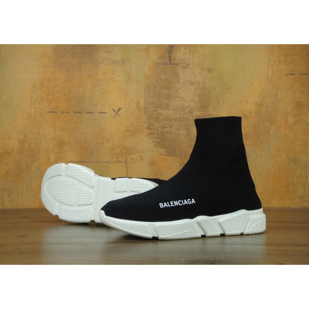 Летние кроссовки мужские - Кроссовки Balenciaga Speed Trainer Black White