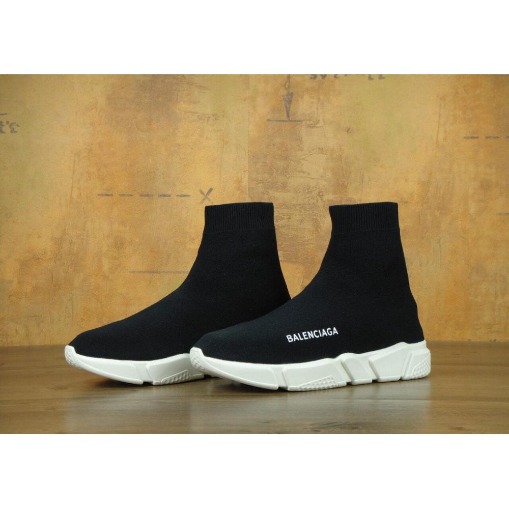 Летние кроссовки мужские - Кроссовки Balenciaga Speed Trainer Black White 1