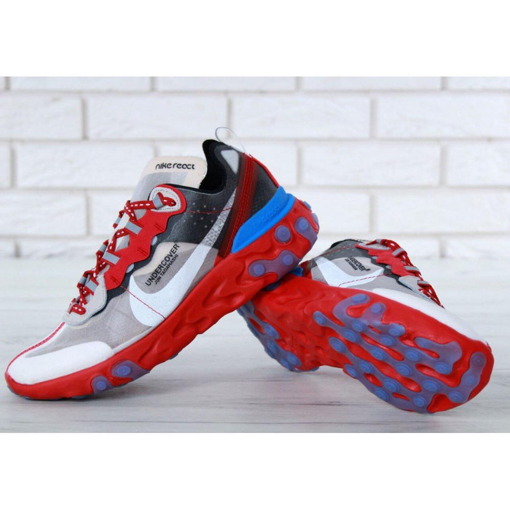 Беговые кроссовки мужские  - Кроссовки Найк Undercover Jun Tadahashi Grey Red Blue 2