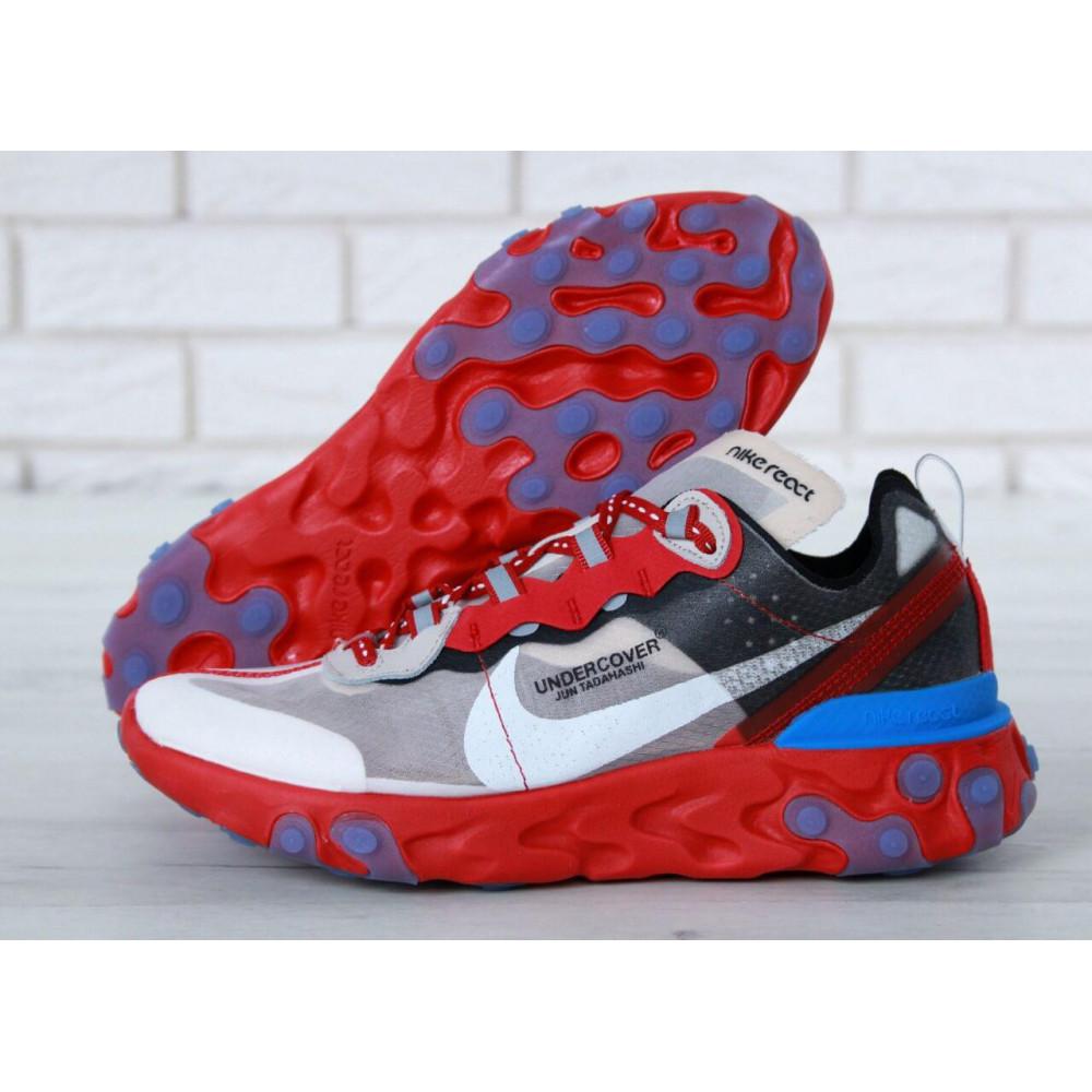 Беговые кроссовки мужские  - Кроссовки Найк Undercover Jun Tadahashi Grey Red Blue 3