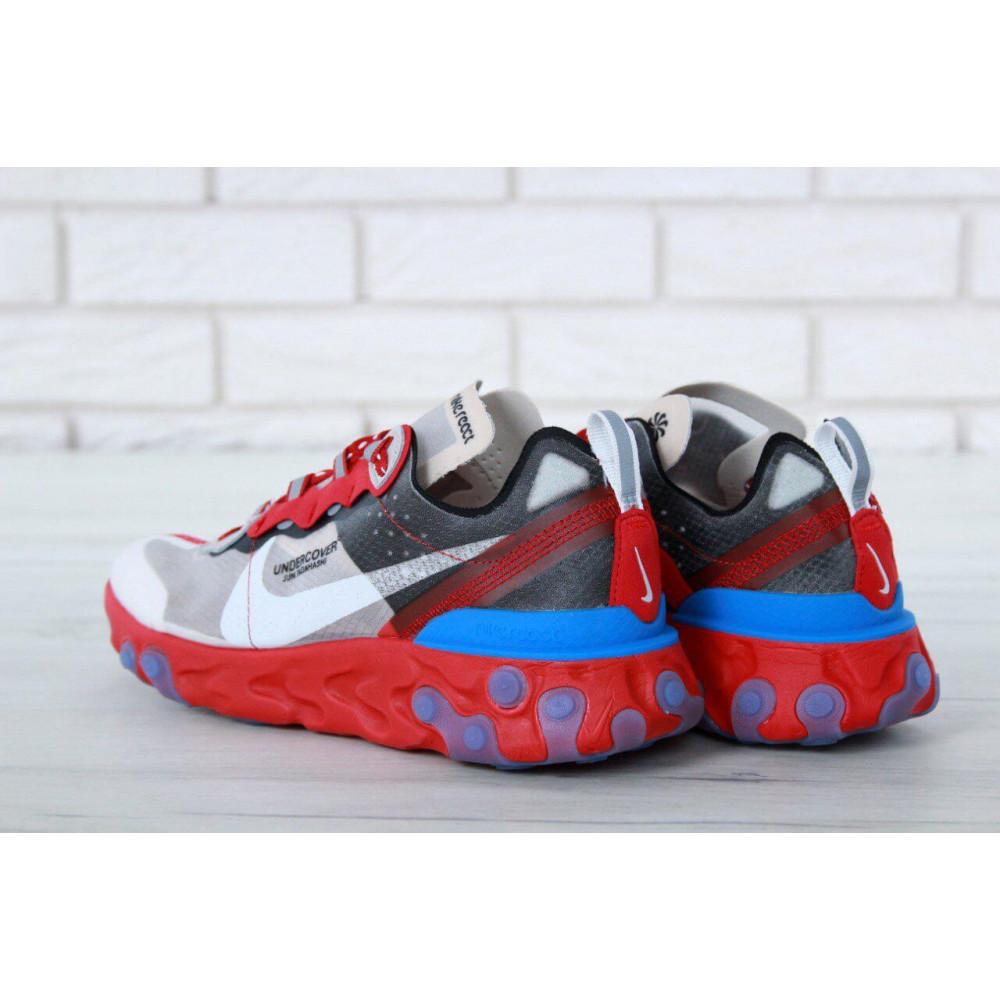 Беговые кроссовки мужские  - Кроссовки Найк Undercover Jun Tadahashi Grey Red Blue 1