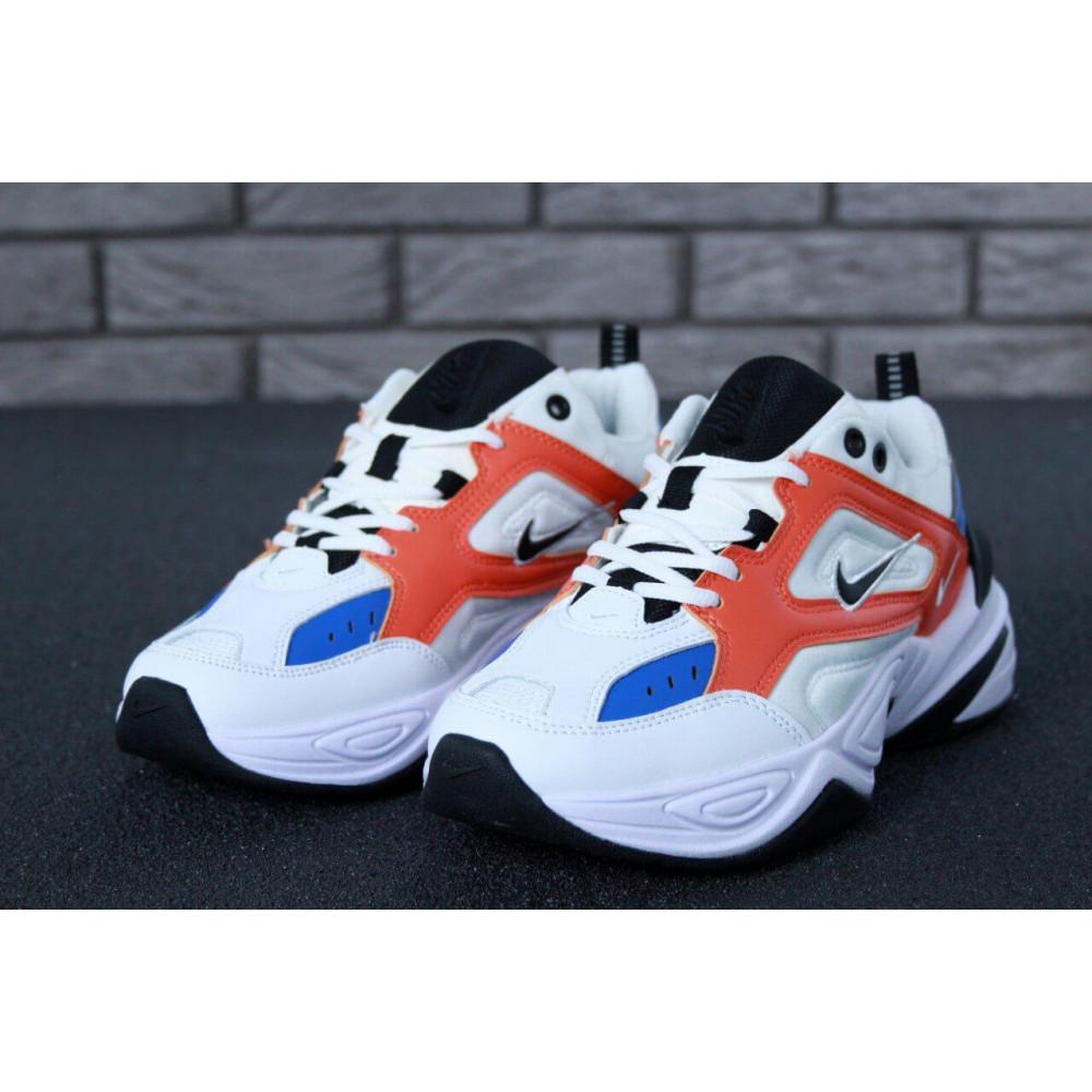 Классические кроссовки мужские - Мужские кроссовки Найк М2К Текно White Blue Red 2