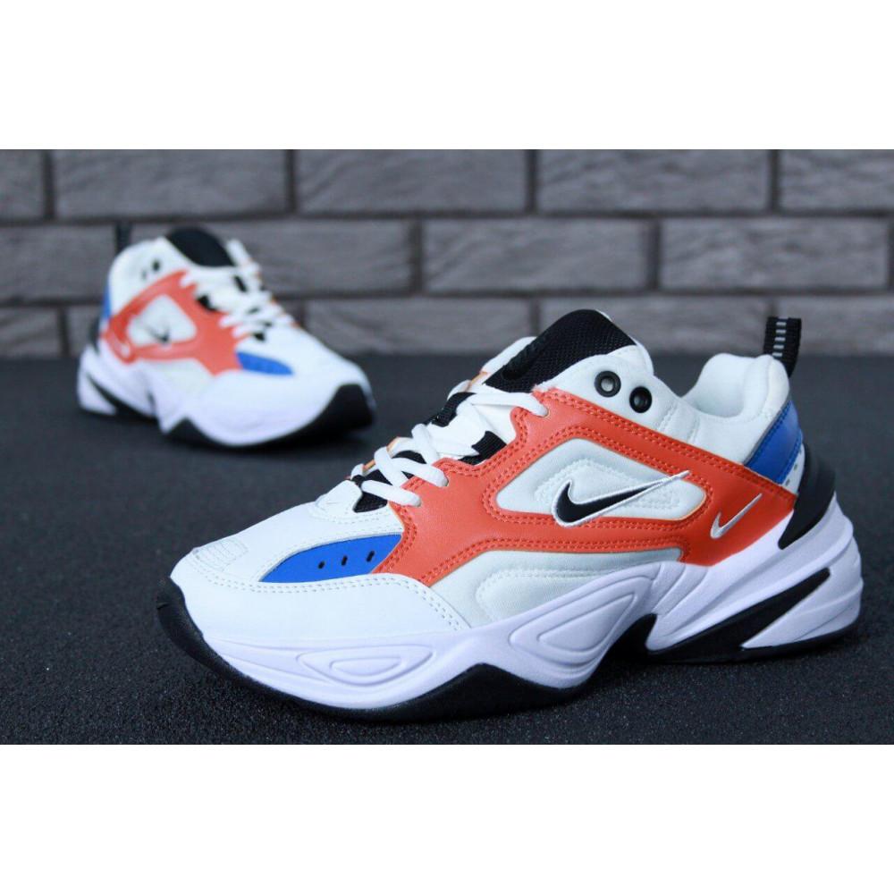 Классические кроссовки мужские - Мужские кроссовки Найк М2К Текно White Blue Red 3