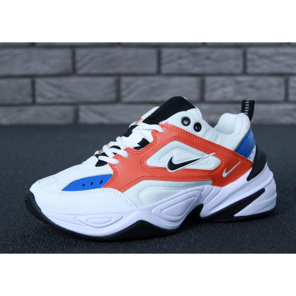 Классические кроссовки мужские - Мужские кроссовки Найк М2К Текно White Blue Red 1