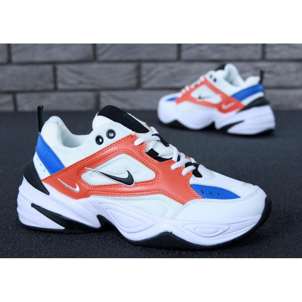 Классические кроссовки мужские - Мужские кроссовки Найк М2К Текно White Blue Red 4