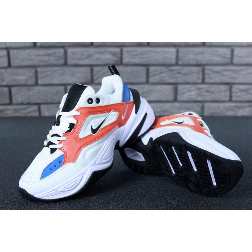 Классические кроссовки мужские - Мужские кроссовки Найк М2К Текно White Blue Red 6