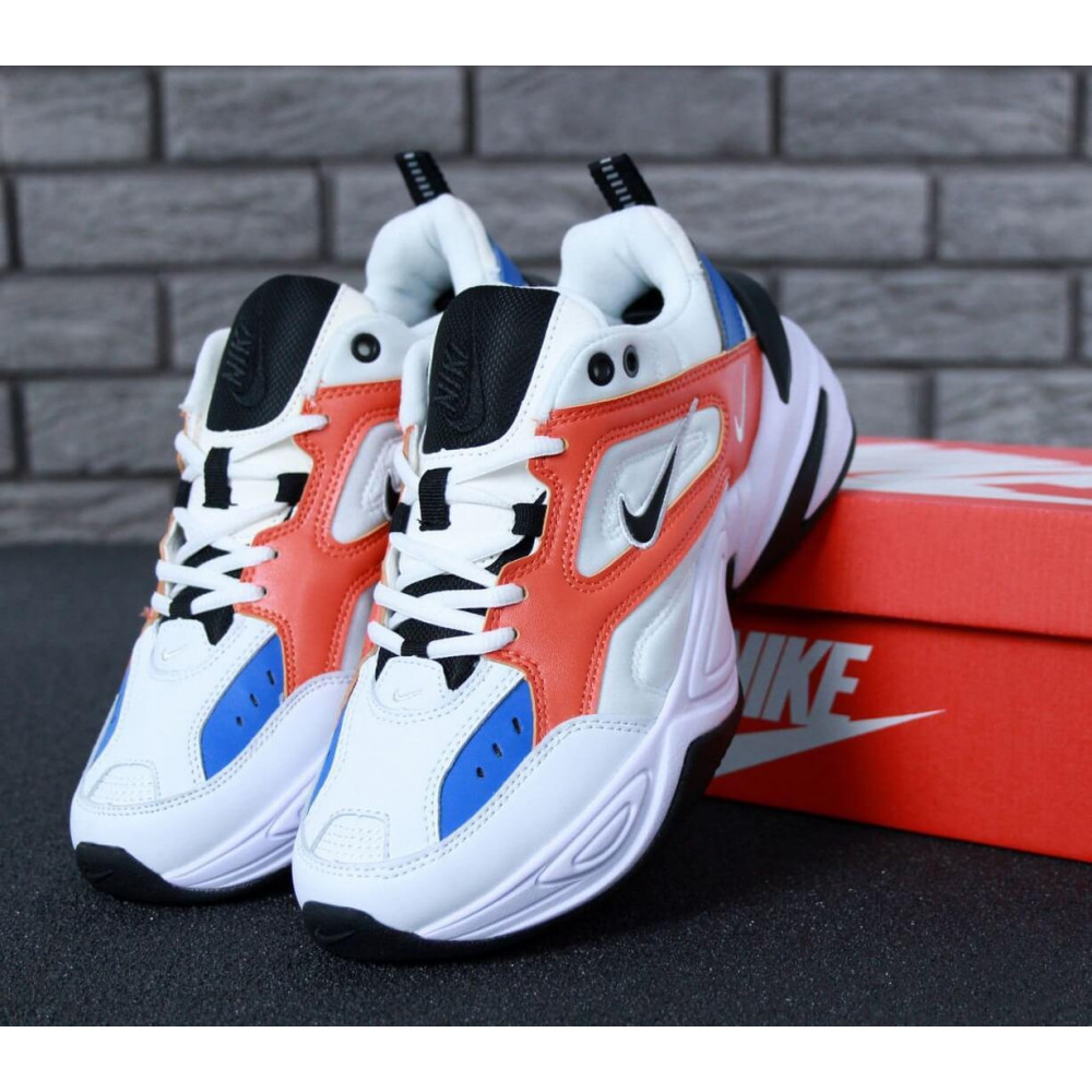 Классические кроссовки мужские - Мужские кроссовки Найк М2К Текно White Blue Red