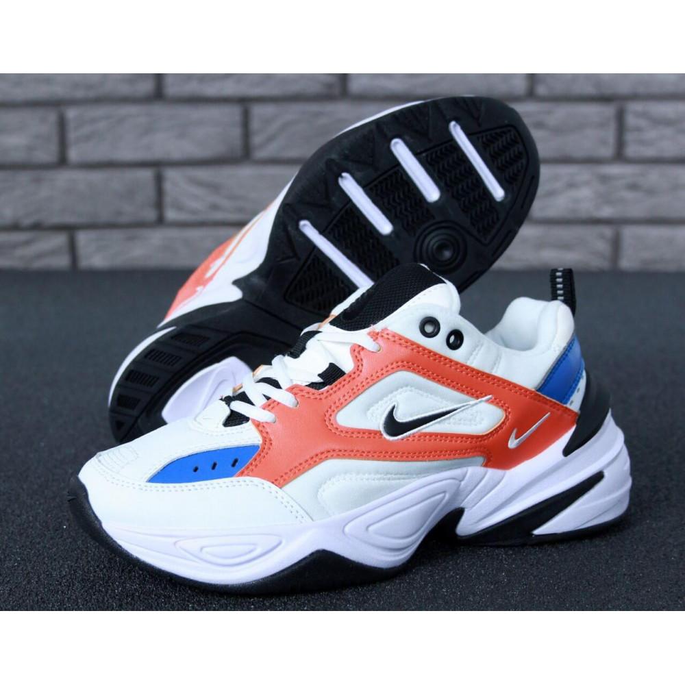 Классические кроссовки мужские - Мужские кроссовки Найк М2К Текно White Blue Red 8