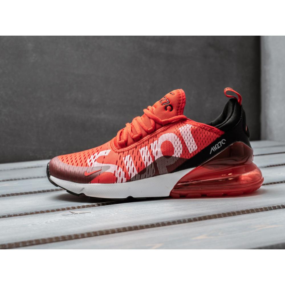 Демисезонные кроссовки мужские   - Мужские кроссовки Nike Air Max 270 Supreme красного цвета 2