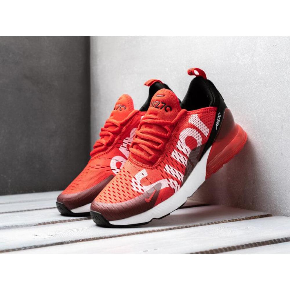 Демисезонные кроссовки мужские   - Мужские кроссовки Nike Air Max 270 Supreme красного цвета