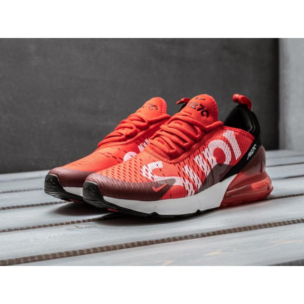 Демисезонные кроссовки мужские   - Мужские кроссовки Nike Air Max 270 Supreme красного цвета 3
