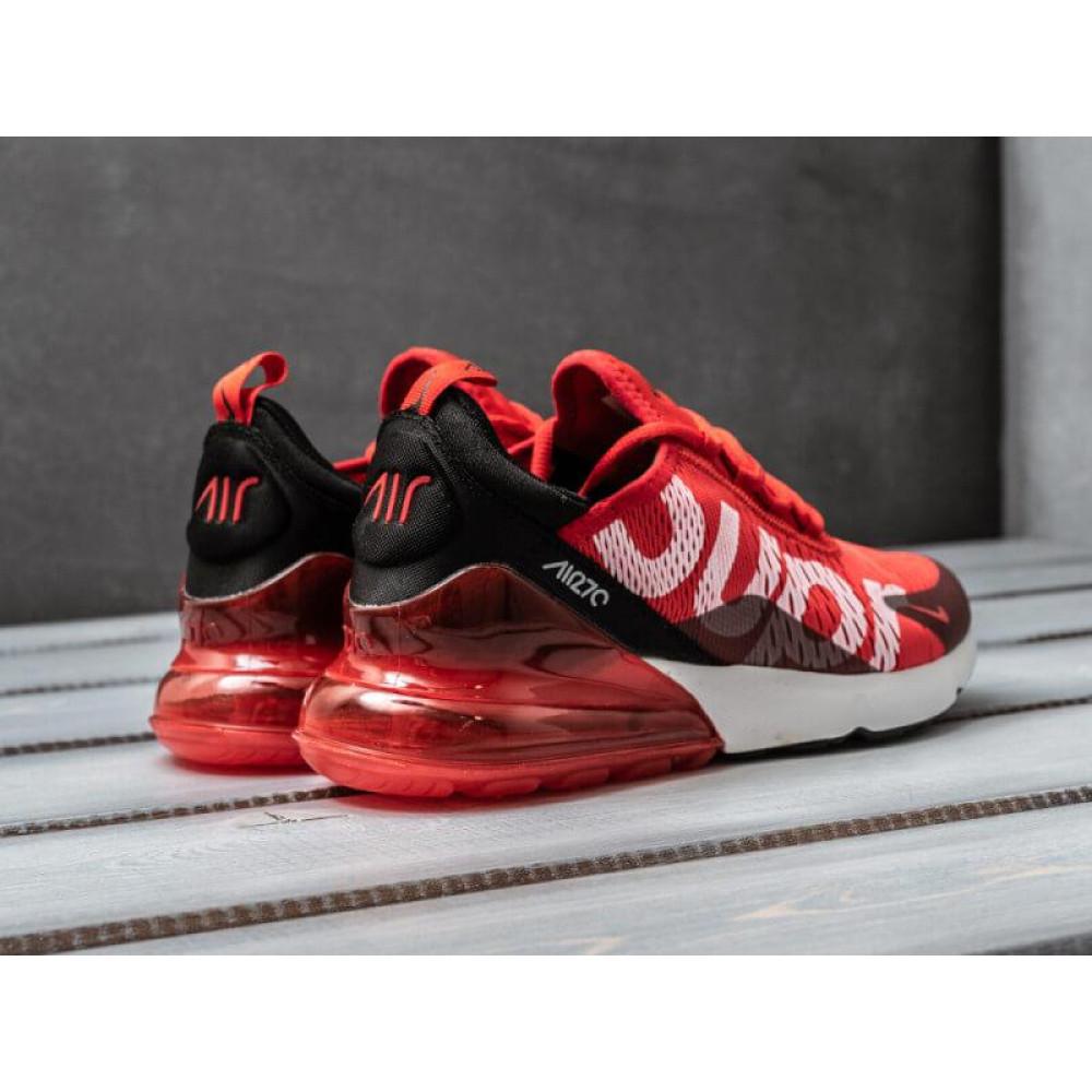 Демисезонные кроссовки мужские   - Мужские кроссовки Nike Air Max 270 Supreme красного цвета 1