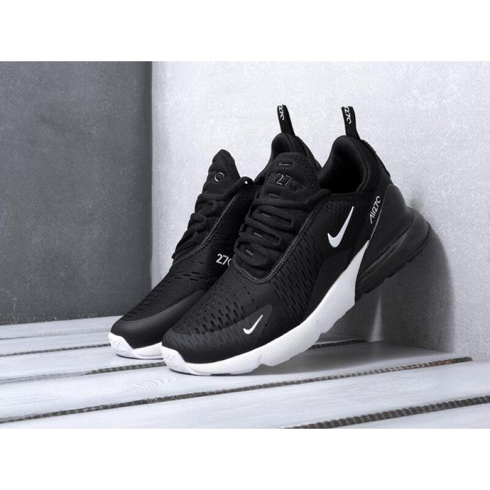 Демисезонные кроссовки мужские   - Мужские кроссовки Nike Air Max 270 черно-белые