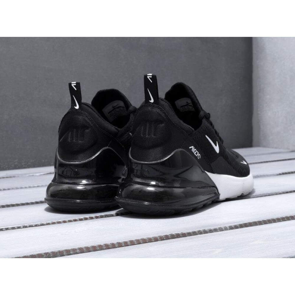 Демисезонные кроссовки мужские   - Мужские кроссовки Nike Air Max 270 черно-белые 4