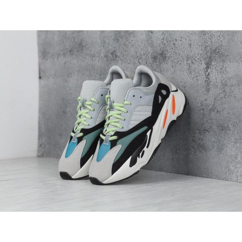 Демисезонные кроссовки мужские   - Яркие кроссовки Adidas Yeezy Wave Runner 700 Solid Grey Chalk