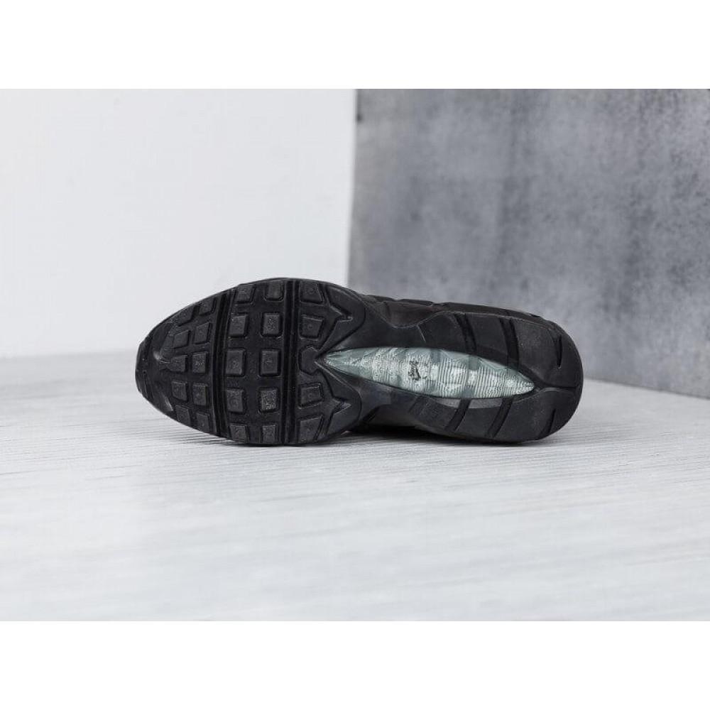 Зимние кроссовки мужские - Мужские теплые кроссовки Air Max 95 Sneakerboot в черном цвете 4