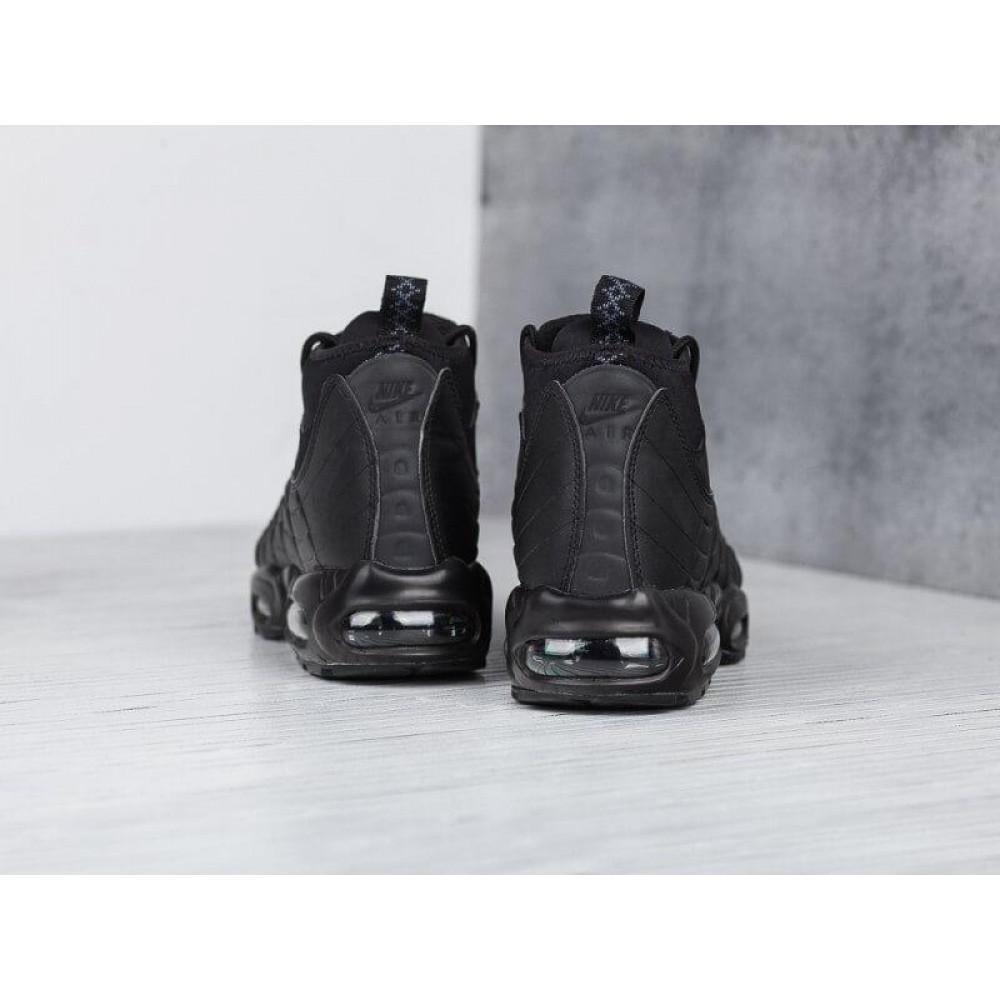 Зимние кроссовки мужские - Мужские теплые кроссовки Air Max 95 Sneakerboot в черном цвете 3