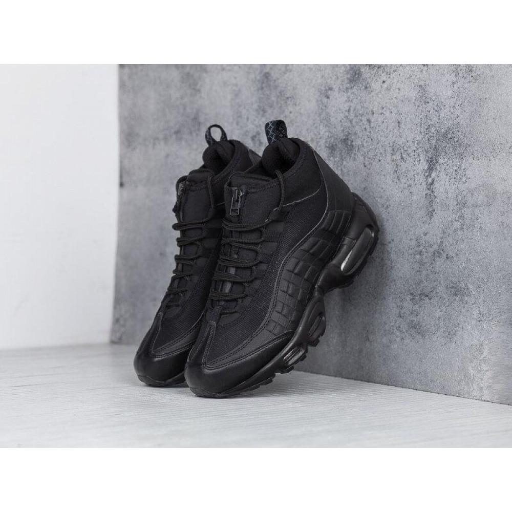 Зимние кроссовки мужские - Мужские теплые кроссовки Air Max 95 Sneakerboot в черном цвете