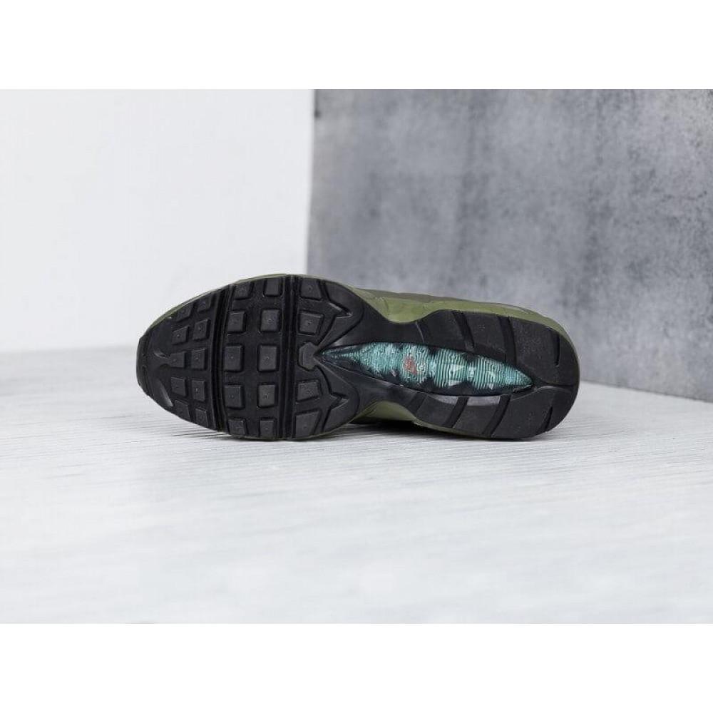 Зимние кроссовки мужские - Мужские термо кроссовки Nike Air Max 95 Sneakerboot Olive Red Cargo Khaki 6